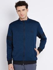 Adidas Blue WNTOFF T L Grindle Effect Sweatshirt