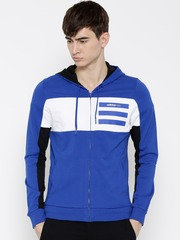 Adidas NEO Blue & White EPP CS Z Colourblocked Hooded Sweatshirt