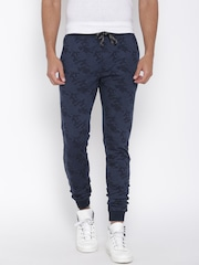 John Players Navy Patterned Track Pants
