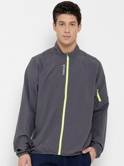 Reebok Grey RE WVN Running Jacket