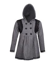 naughty ninos Girls Grey Pea Coat