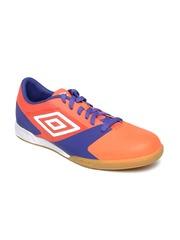 Umbro Men Orange & Blue Indoor Football Shoes