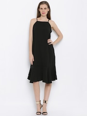 AND Women Black Solid Shift Dress