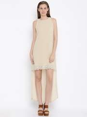AND Women Nude-Coloured High-Low Dress