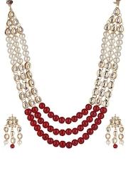 RATNAVALI Gold-Plated Embellished Jewellery Set