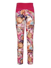 CUTECUMBER Girls Multicoloured Printed Ankle-Length Leggings