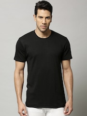 Marks & Spencer Men Black Cotton Rich Thermal T-shirt 8803N
