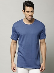 Marks & Spencer Men Blue Cotton Rich Thermal T-shirt 8803N