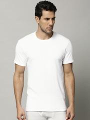 Marks & Spencer Men White Cotton Rich Thermal T-shirt 8803N
