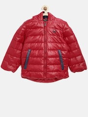 United Colors of Benetton Boys Red Hooded Puffer Jacket
