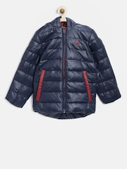 United Colors of Benetton Boys Navy Hooded Puffer Jacket