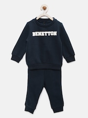 United Colors of Benetton Boys Navy Blue Lounge Set 16A3J67Z11IAG