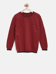 United Colors of Benetton Boys Maroon Sweater