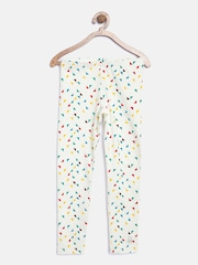 United Colors of Benetton Girls White Printed Leggings
