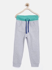 United Colors of Benetton Boys Grey Melange Track Pants
