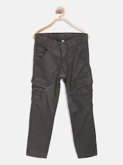 United Colors of Benetton Boys Coffee Brown Solid Cargos