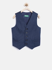 United Colors of Benetton Boys Navy Waistcoat