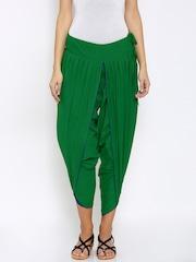 Mother Earth Women Green Solid Jodhpuris
