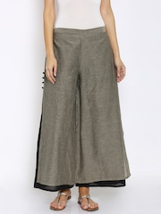 Mother Earth Women Grey Palazzo Trousers