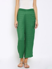 Mother Earth Women Green Palazzo Trousers