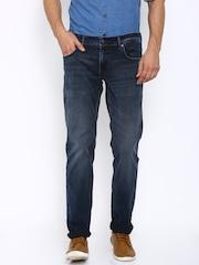 Indian Terrain Men Blue Brooklyn Fit Low-Rise Clean Look Jeans