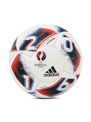 Adidas Men Off-White & Black Euro16 HRDGRND Printed Football