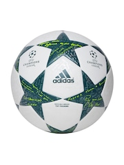 Adidas Men White & Teal Green Finale 16 COMP Printed Football