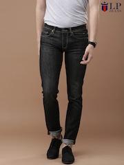 Louis Philippe Jeans Men Black Matt Fit Jeans