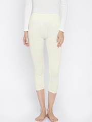 Kanvin Off-White Thermal Leggings