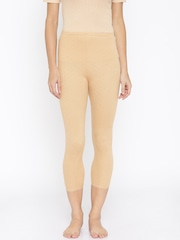 Kanvin Beige Thermal Semi-Long Leggings