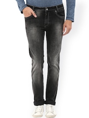 Mufti Men Black Narrow Fit Mid-Rise Clean Look Jeans