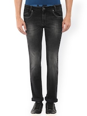 Mufti Men Black Super Slim Fit Mid-Rise Clean Look Jeans