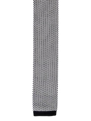 Tossido White & Black Knitted Tie
