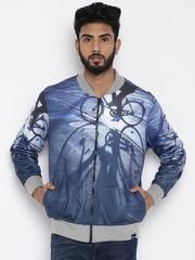 Lee Men Navy Blue Printed Sweatshirt