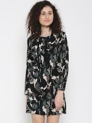 Vero Moda Women Black Printed Tailored Dress