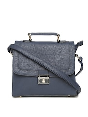 Lisa Haydon for Lino Perros Navy Satchel with Sling Strap