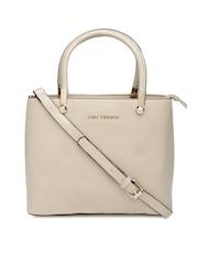 Lino Perros Beige Structured Handbag