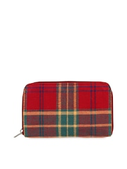 Anekaant Women Red Checked Jacquard Wallet