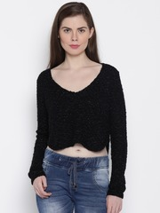 ONLY Black Crop Sweater