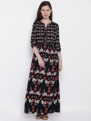 ONLY Women Black Printed Maxi Dress