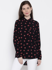 ONLY Women Black Printed Casual Shirt
