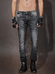 RDSTR Men Black Skinny Fit Mid-Rise Jeans
