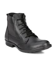Mactree Men Black Flat Boots