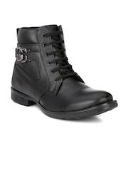 Mactree Men Black Solid High tops Flat Boots