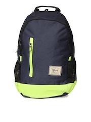 Gear Unisex Blue & Fluorescent Green Campus 8 Backpack