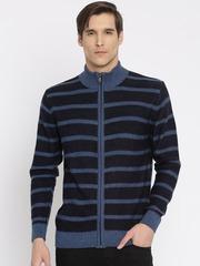 Indian Terrain Blue Cardigan Fit Sweater