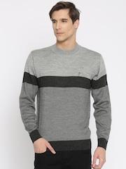Indian Terrain Grey Cardigan Fit Sweater