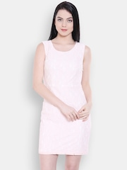 Allen Solly Woman Off-White Self-Design Sheath Dress