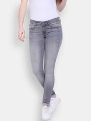 Allen Solly Woman Grey Slim Fit Jeans