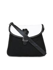 Pick Pocket Black & White Sling Bag